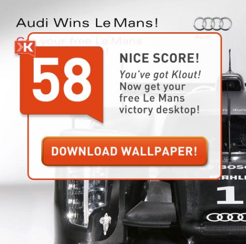 Involver, Klout, Audi