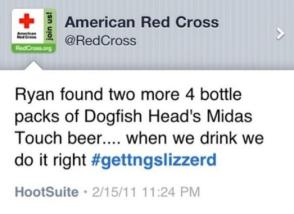 Red Cross Tweet